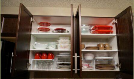 Как убрать в кухонных шкафах