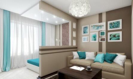 Зонирование однокомнатной квартиры на спальню и гостиную