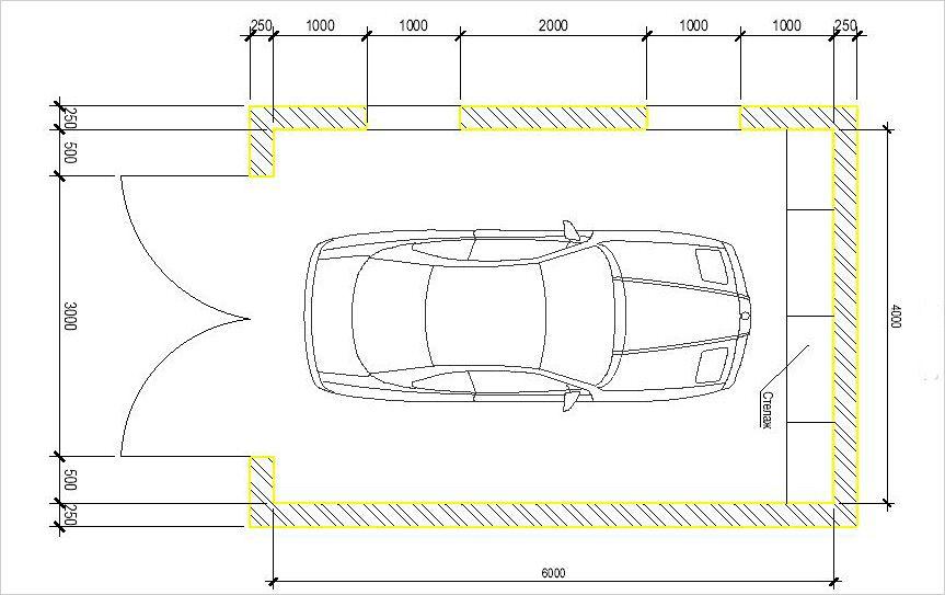 Как рассчитать размеры гаража для одной машины