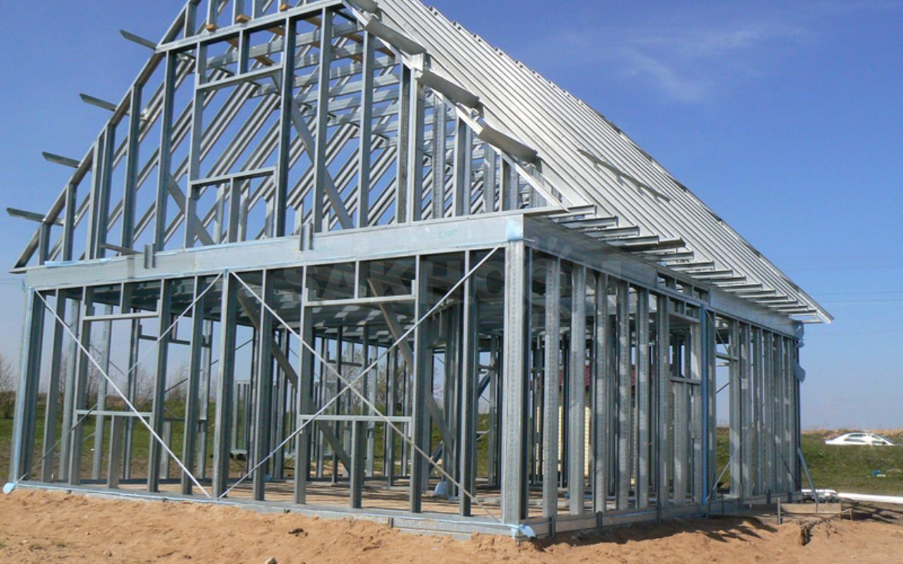 Дома из металлопрофиля как строить
