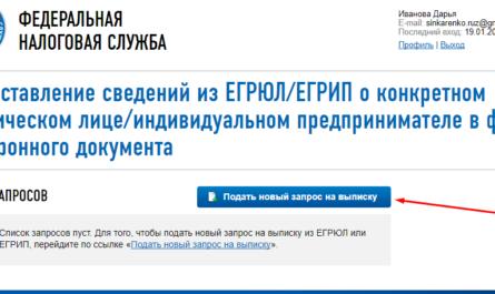 Получение электронной выписки из ЕГРЮЛ ЕГРИП